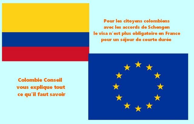 Conditions d'entrée pour les citoyens colombiens en France